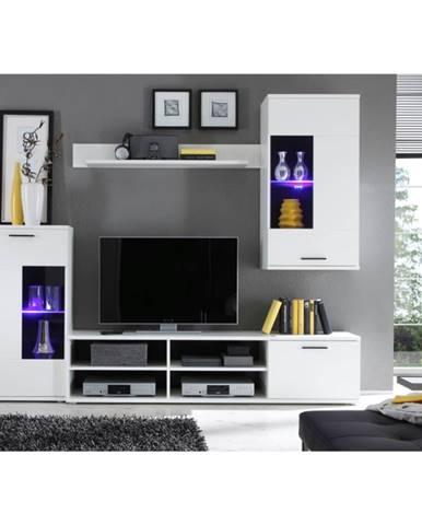 Frontal 1 obývacia stena biela