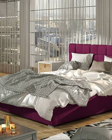 Galimo UP 200 čalúnená manželská posteľ s roštom vínová