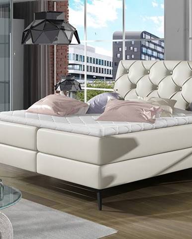 Lazio 180 čalúnená manželská posteľ s úložným priestorom béžová