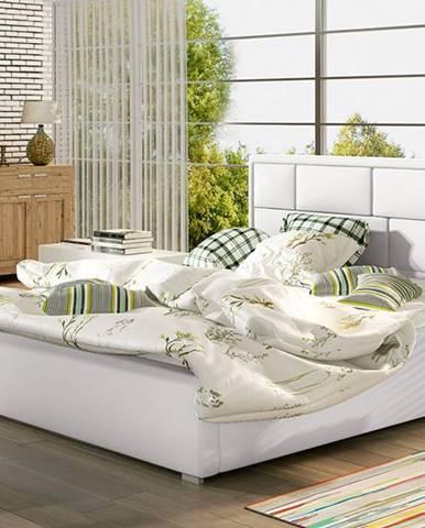 Liza UP 180 čalúnená manželská posteľ s roštom biela