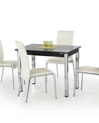 Logan sklenený rozkladací jedálenský stôl čierna