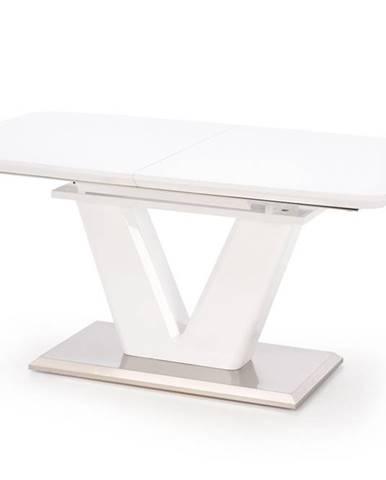 Mistral rozkladací jedálenský stôl biely lesk