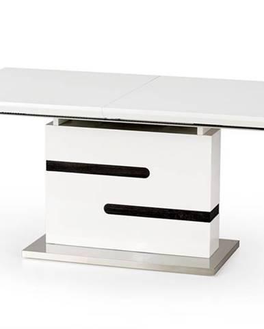 Monaco rozkladací jedálenský stôl biely lesk