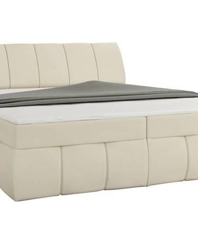 Vareso 160 čalúnená manželská posteľ s úložným priestorom béžová (Soft 33)