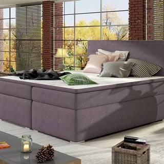 Diana 180 čalúnená manželská posteľ s úložným priestorom fialová