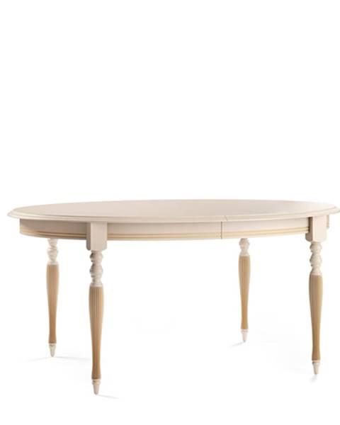 TARANKO Verona T-E rustikálny rozkladací jedálenský stôl krém patyna