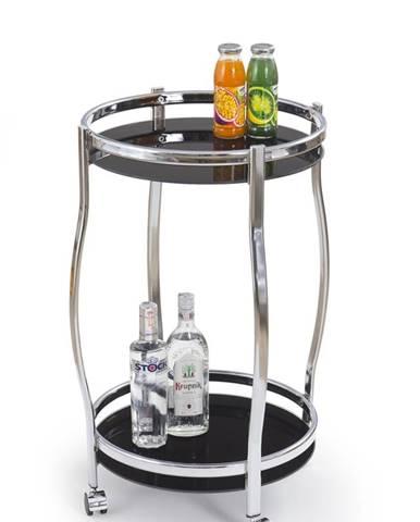 Bar-8 servírovací stolík na kolieskach čierna