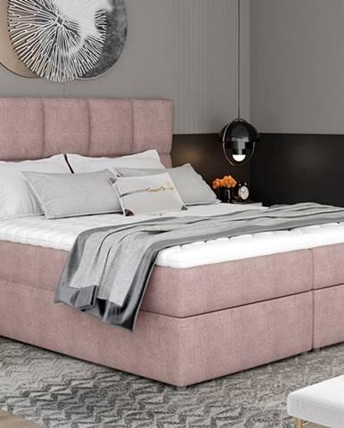 Grosio 185 čalúnená manželská posteľ s úložným priestorom ružová