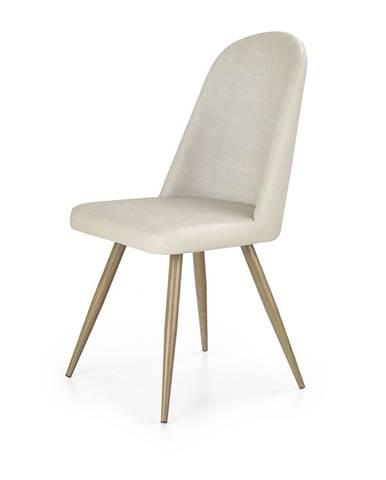 K214 jedálenská stolička krémová