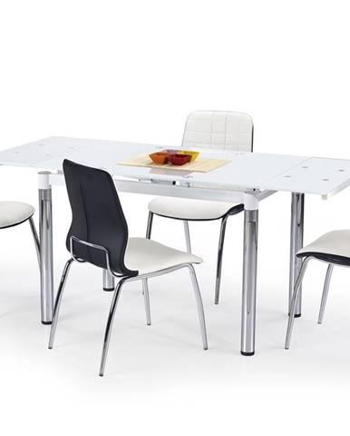 L31 sklenený rozkladací jedálenský stôl biela