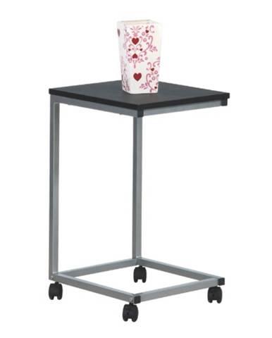 Manny príručný stolík na kolieskach čierna