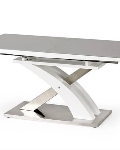 Sandor 2 rozkladací jedálenský stôl sivý lesk