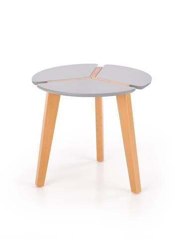 Zeta okrúhly konferenčný stolík sivý lesk