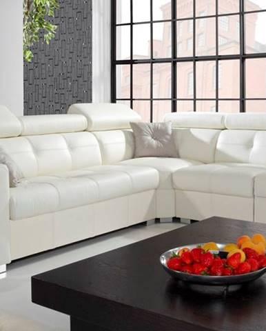 Etna II P kožená rohová sedačka biela (Madras white)