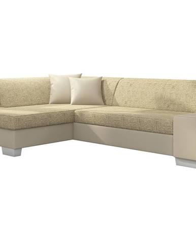 Ferol L rohová sedačka s rozkladom a úložným priestorom cappuccino