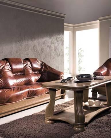 Lord kožená sedacia súprava drevo D3