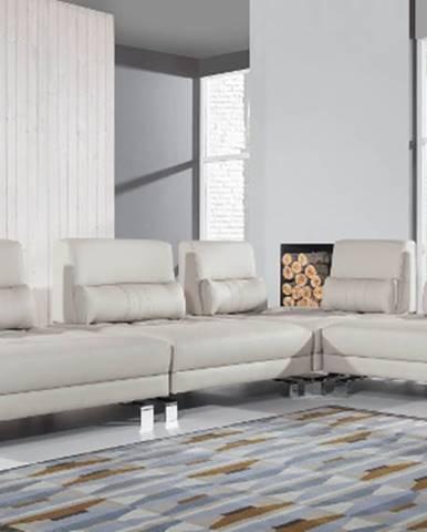 Mediolan P kožená rohová sedačka krémová (Madras G100)