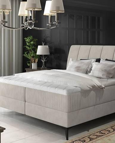 Altama 160 čalúnená manželská posteľ s úložným priestorom svetlosivá (Soro 83)