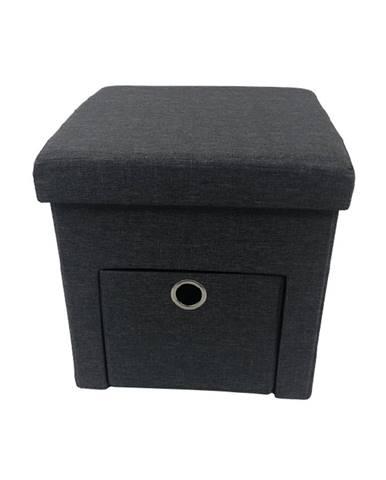 Setin taburetka s úložným priestorom sivá