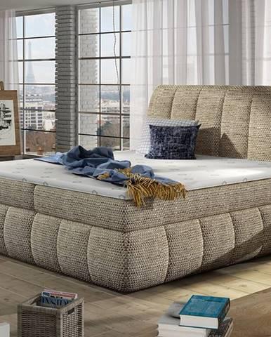 Vareso 140 čalúnená manželská posteľ s úložným priestorom cappuccino