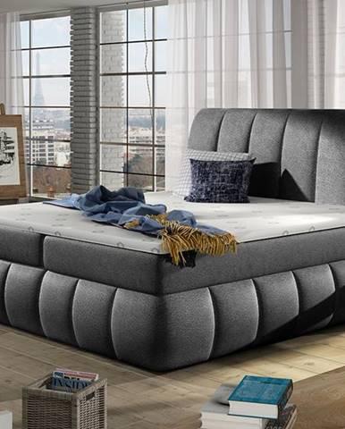 Vareso 160 čalúnená manželská posteľ s úložným priestorom čierna (Dora 96)
