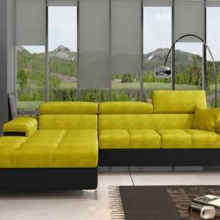 Rosino L rohová sedačka s rozkladom a úložným priestorom žltá