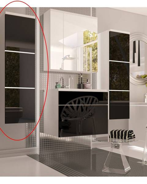 Kondela Mason BL 11 kúpeľňová skrinka na stenu biela