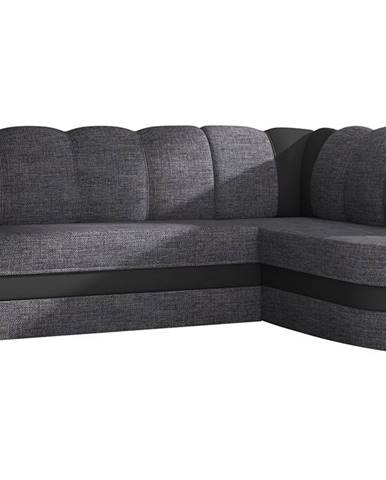Belluno P rohová sedačka s rozkladom a úložným priestorom sivá (Berlin 01)