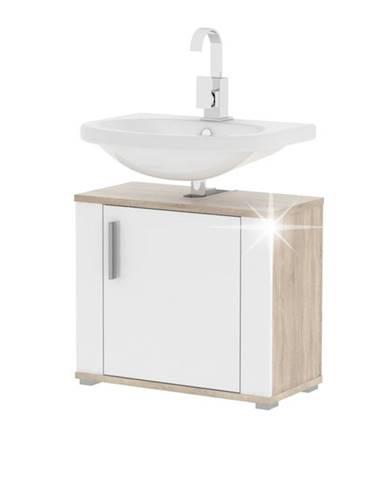 Lessy LI 2 kúpeľňová skrinka pod umývadlo dub sonoma