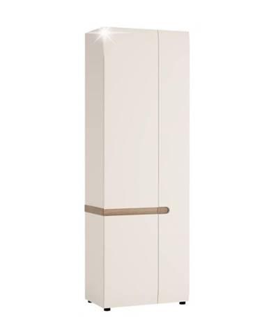 Lynatet 25 2D šatníková skriňa biela