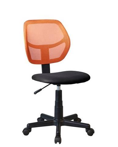 Mesh kancelárska stolička oranžová