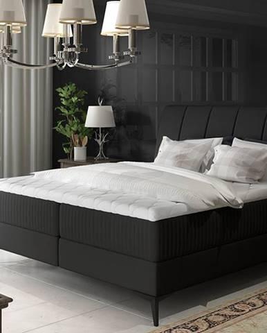 Altama 160 čalúnená manželská posteľ s úložným priestorom čierna (Soft 11)