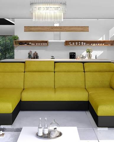 Ermo U P rohová sedačka u s rozkladom a úložným priestorom žltá