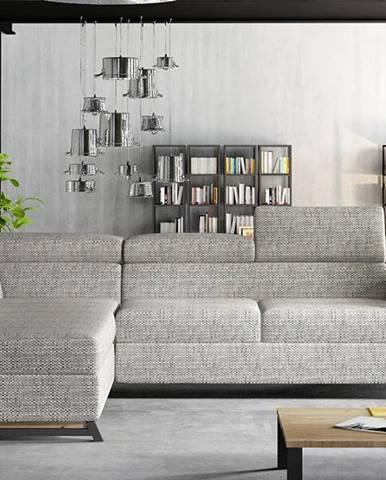 Korense L rohová sedačka s rozkladom a úložným priestorom sivá (Berlin 01)