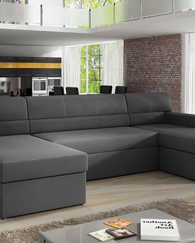 Matosino L rohová sedačka u s rozkladom a úložným priestorom sivá (Soft 29)