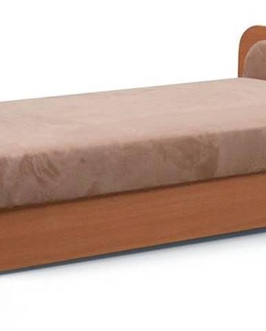 Pinerolo 80 P jednolôžková posteľ (váľanda) s úložným priestorom hnedá
