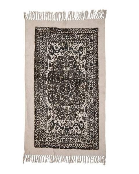Bloomingville Béžovo-čierny koberec Bloomingville Luca, 90 x 150 cm