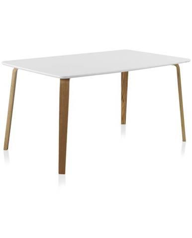 Biely jedálenský stôl Geese, 150×90 cm