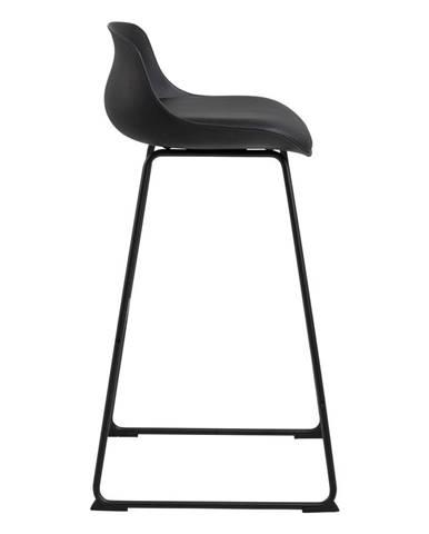 Čierna barová stolička Actona Tina