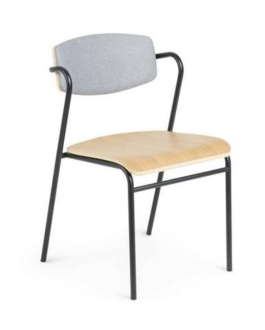 Jedálenská stolička v dekore dubového dreva La Forma Zaha