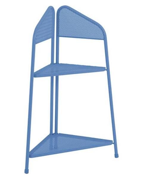 ADDU Modrá kovová rohová polica na balkón ADDU MWH, výška 100 cm