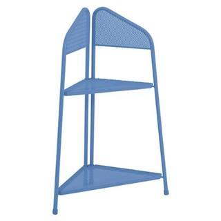 Modrá kovová rohová polica na balkón ADDU MWH, výška 100 cm