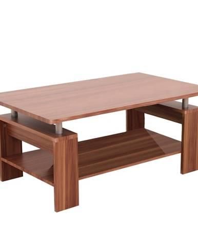 Konferenčný stolík svetlý orech/strieborná ROKO poškodený tovar