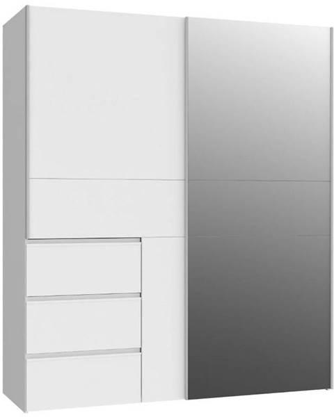 MERKURY MARKET Skriňa Winn 170 dub biely/Zrkadlo