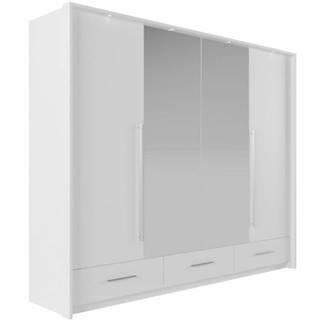 Skriňa Toledo 255 biely/zrkadlo