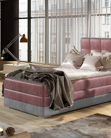 Alessandra 90 L čalúnená jednolôžková posteľ bordová