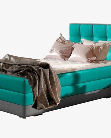 Alessandra 90 L čalúnená jednolôžková posteľ svetlomodrá