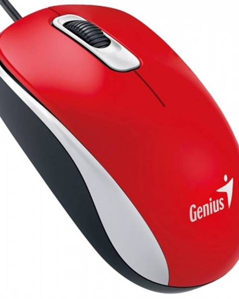 Genius Drôtová myš Genius DX-110, 1000 dpi, červená