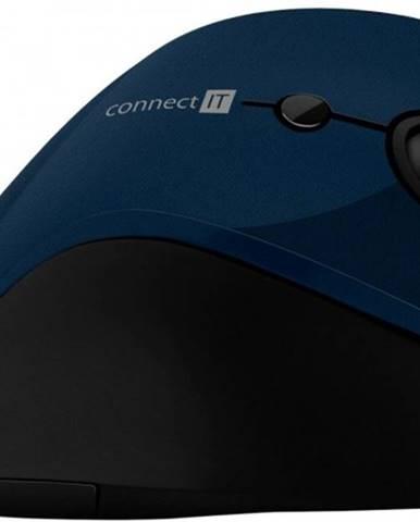 Bezdrôtová myš Connect IT CMO2700BL, ergonomická, modrá