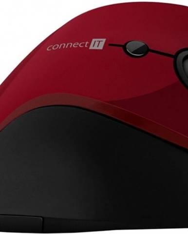 Bezdrôtová myš Connect IT CMO2700RD, ergonomická, červená